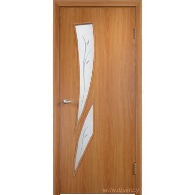 Ламинированная дверь МДФ - С-2 стекло с фьюзингом