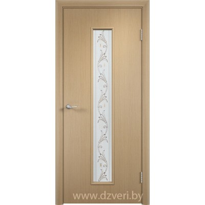"""Ламинированная дверь МДФ - С-21 со стеклом """"Вьюн"""""""