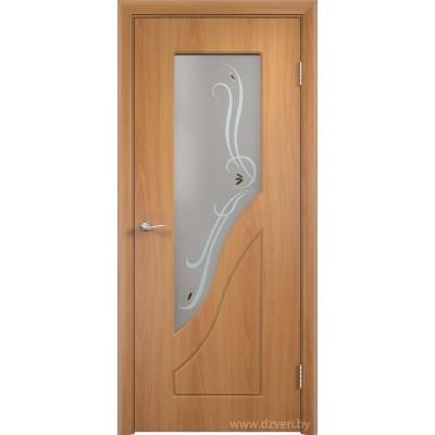 Дверь МДФ с покрытием ПВХ - Камила ДО (остекленная)