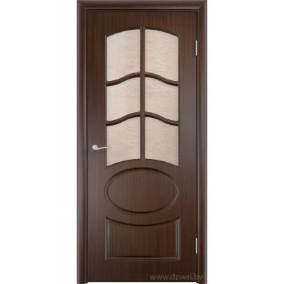 Дверь МДФ с покрытием ПВХ - Неаполь 2 ДО (остекленная)