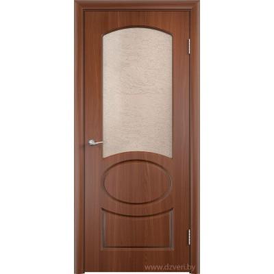 Дверь МДФ с покрытием ПВХ - Неаполь ДО (остекленная)