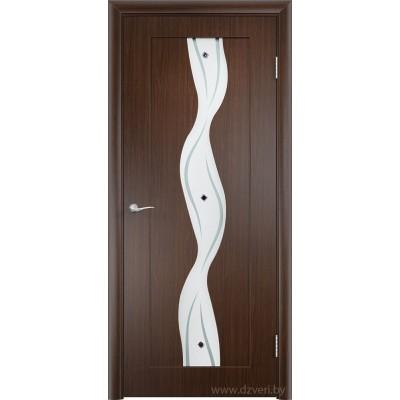 Дверь МДФ с покрытием ПВХ - Вираж ДО (остекленная)