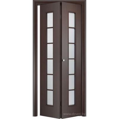Складная ламинированная дверь - С-12