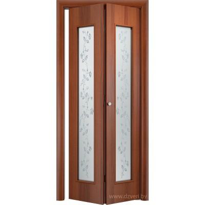 Складная ламинированная дверь - С-17 (художественное)