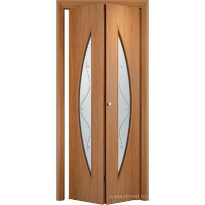 Складная ламинированная дверь - С-6 (ф)