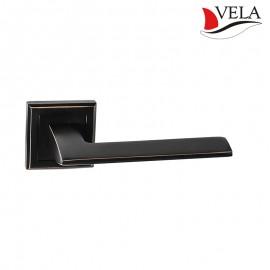 Дверная ручка Блейд (Vela) темная медь