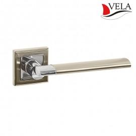 Дверная ручка Лигурия (Vela) никель/хром