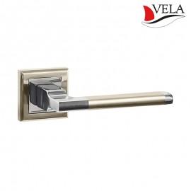 Дверная ручка Мерано (Vela) никель/хром