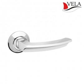 Дверная ручка Морион (Vela) хром