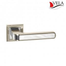 Дверная ручка Нова (Vela) никель/хром