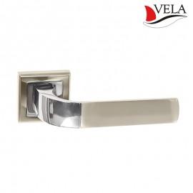Дверная ручка Орион (Vela) никель/хром