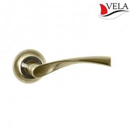 Дверная ручка Прима (Vela) бронза