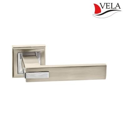 Дверная ручка Веста (Vela) никель/хром
