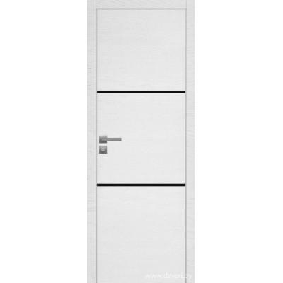 Дверь экошпон   -  Версаче 2  (черный триплекс)