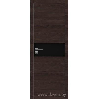 Дверь экошпон   -  Версаче 3  (черный триплекс)