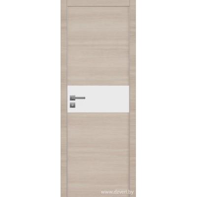 Дверь экошпон   -  Версаче 3  (белый триплекс)