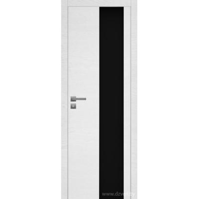Дверь экошпон   -  Версаче 4  (черный триплекс)