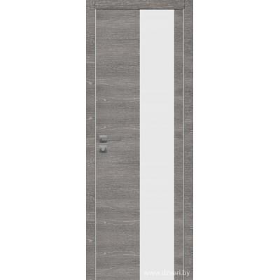 Дверь экошпон   -  Версаче 4  (белый триплекс)
