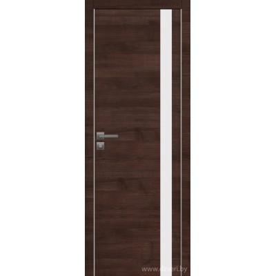 Дверь экошпон   -  Версаче 5  (белый триплекс)