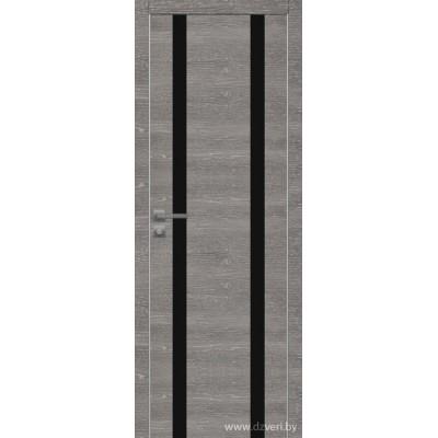 Дверь экошпон   -  Версаче 6 (черный триплекс)