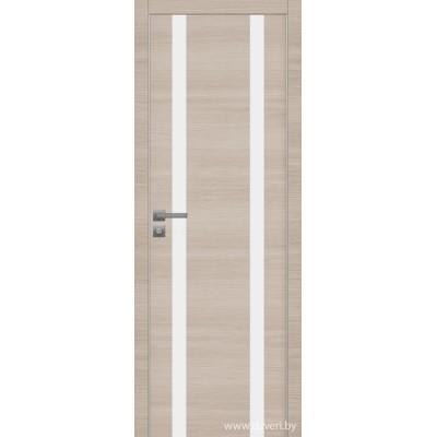 Дверь экошпон   -  Версаче 6 (белый триплекс)