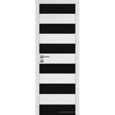 Дверь экошпон   -  Версаче 7 (черный триплекс)
