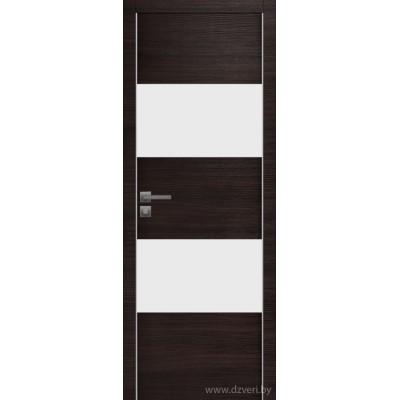 Дверь экошпон   -  Версаче 8 (белый триплекс)