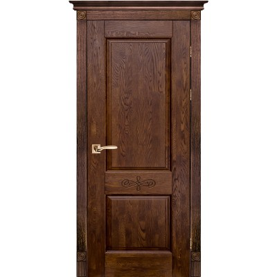 Дверь из массива дуба - Классик Модель 4 (полотно глухое)