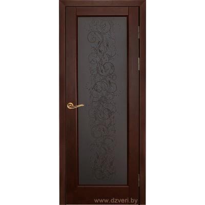 Дверь из массива ольхи - Витраж