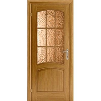 Шпонированная дверь - Капри 3 ДО (остекленная)