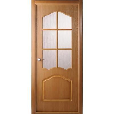 Шпонированная дверь - Каролина ПО (остекленная)
