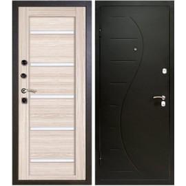 Дверь металлическая - Alfadoors Волна Крем