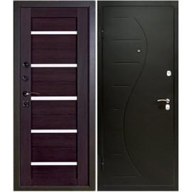 Дверь металлическая - Alfadoors Волна Венге